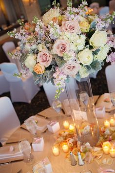 Pink and ivory wedding table setting / alante photography tablescape ideas Vintage Wedding Flowers, Blush Wedding Flowers, Ivory Wedding, Hotel Wedding, Winter Wedding Decorations, Fall Wedding Centerpieces, Floral Centerpieces, Floral Arrangements, Austin Wedding Venues