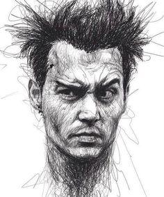 Artista desenha rostos de atores famosos sem tirar a caneta do papel