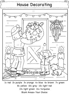 CHRISTMAS COLOR BY NUMBER By: Becky J. Radtke from Dover - Coloring Page 5