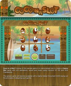 #Coconut2D sample #slot #game! Back the Coconut 2D project on #kickstarter here https://www.kickstarter.com/projects/156778458/coconut2d-game-editor-ide