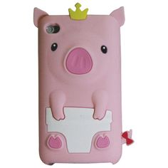 Exian iPod touch 4th Generation Pig Case (4T038) - Pink                         - Web Only