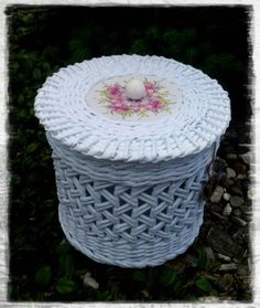 Pletení 2017 Outdoor Furniture, Outdoor Decor, Ottoman, Home Decor, Recycling, Hampers, Pictures, Photograph Album, Decoration Home