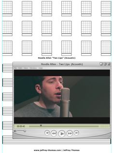 """On The Workbench: """"Two Lips"""" by HOODIE ALLEN.  Staring the guitar tab for this tune today.  Let me know if you would like free tab updates and skype review:  www.jeffrey-thomas.com"""