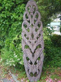 Tane Mahuta...God of the Forest and living creatures. Carved Surfboard.