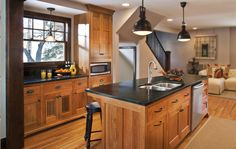 Saratoga Black countertops by Artisan Group. Stunning kitchen #remodel #newhome