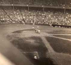 Vintage Babe Ruth snapshot photo  baseball game by ohiopicker, $125.00