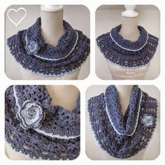 Schouldercozy / cowl with link to Drops pattern