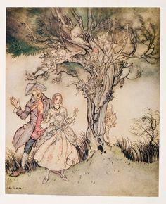 Arthur Rackham. The legend of sleepy hollow.