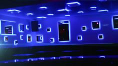 Parts of the walls with glass and led strip - control with dimers and DMX Nightclub Design, Led Strip, Night Club, Walls, Wands