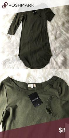 ea1f40628322 Olive bodycon dress 3 4 sleeve. New