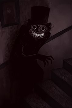 The Babadook 😨 Creepy Horror, Gothic Horror, Arte Horror, Scary Drawings, Dark Art Drawings, Creepy Images, Creepy Pictures, The Babadook, Horror Artwork