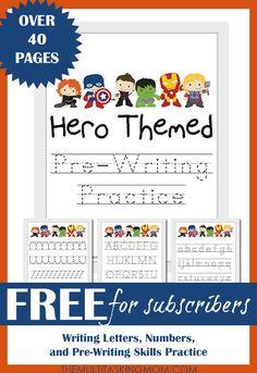 Hero Themed PreWriting Practice