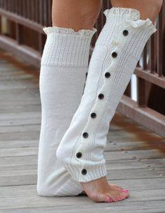 Women's Socks & Hosiery Selfless Women Winter Lace Leg Warmers Elegant Over Knee Long Knit Ladies Crochet Vintage Legging Chic Boots