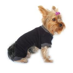 Anima Black Fleece Pajama Sweater with Grey Trim, Small - http://www.thepuppy.org/anima-black-fleece-pajama-sweater-with-grey-trim-small/