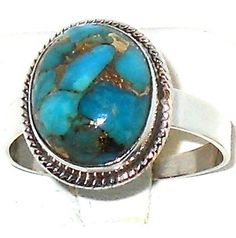 Look what I found on @eBay! http://r.ebay.com/ziUIEs 3.70ctw Enhanced Blue Mojave Turquoise Ring size 7