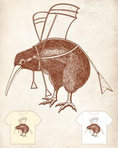 100 Clever Cool & Creative T-Shirt Designs | Cool Graphic & Web Design Blog (Kiwi, be happy with who you are!)