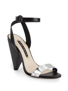 ALICE AND OLIVIA Cici Colorblock Leather Sandals. #aliceandolivia #shoes #sandals