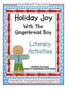 Gingerbread man literacy activities $8.00 on TpT