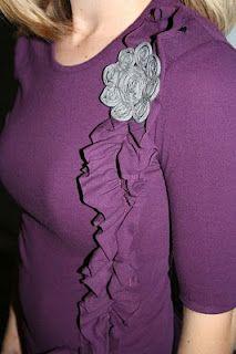 Ruffled embellished shirt