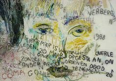 Tilleke Schwarz In memoriam 1988 detail 2 Textiles Techniques, Contemporary Embroidery, Portrait Art, Portraits, Textile Artists, Embroidery Art, Fabric Art, Textile Design, Art Inspo
