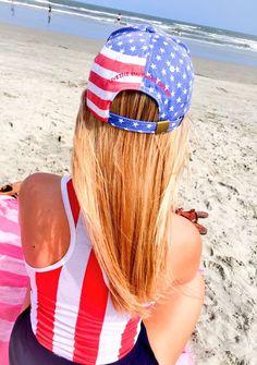 'American Flag' Baseball Hat – United Tees