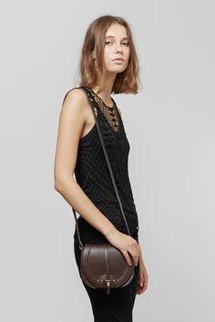 Jerome Dreyfuss Victor Saddle Shoulder Bag | Raquel Allegra Crochet Tank | HOPE Good Tank | 6397 Loose Skinny Jeans | My Chameleon