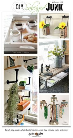 BEST DIY Salvaged Junk Volume 320 - new upcycled projects on funkyjunkinteriors.net