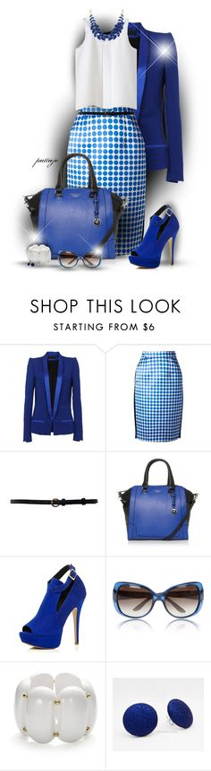 """True Blue"" by rockreborn ❤ liked on Polyvore featuring Haider Ackermann, Emanuel Ungaro, Fiorelli, River Island, Gucci and Kenneth Jay Lane"