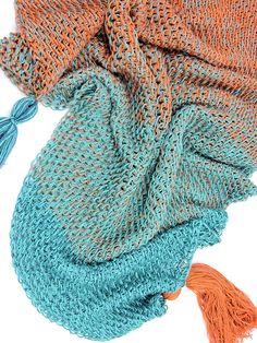 Ravelry: Mermaid Isle Scarf pattern by Kim Guzman Crochet Scarves, Crochet Shawl, Crochet Clothes, Free Crochet, Knit Crochet, Crochet Afghans, Lace Knitting, Crochet Granny, Crochet Wraps