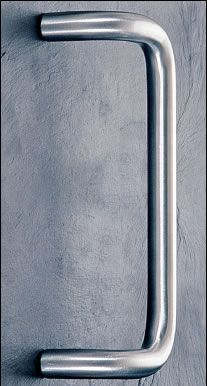 The ASH 103 is a cranked 'D' style stainless steel tubular door pull handle that is available in a number of diameters, door fixing centres and finishes and comes complete with appropriate fixings to suit your door thickness. Available in Polished Brass, Satin Brass, Stain Anodised,  Colour coated, Polished Stainless and Satin Stainless.