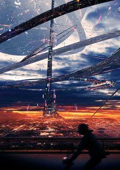 cityscape sci-fi cyberpunk slums futuristic city fragments-of-a-hologram-dystopia Cyberpunk City, Cyberpunk Kunst, Futuristic City, Futuristic Architecture, Fantasy City, Fantasy Places, Sci Fi Fantasy, Arte Sci Fi, Sci Fi Stadt