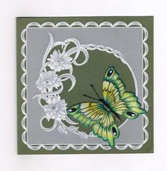 T T butterfly green Vellum Paper, Paper Art, Paper Crafts, Card Patterns, Print Patterns, Parchment Design, Parchment Cards, Butterfly Cards, Hobbies And Crafts