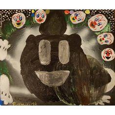 Summon the Bear, 50 x 70cm, acrylic on canvas, 2018 #art #contemporaryart #modernart #painting #modernpainting #contemporarypainting #instaart #artbrut #neoexpressionism #artist #kunst #kunstler #künstler #gallery