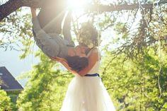 La couronne de fleurs La ceinture bleue La pose du baiser !