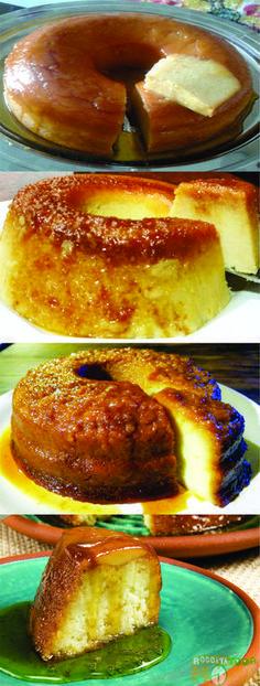 Pudim de Pão #Pudim #PudimdePão #Sobremesa #Receitatodahora Portuguese Desserts, Portuguese Recipes, My Favorite Food, Favorite Recipes, Banana Pudding, Mousse, Biscuits, Just In Case, Cake Recipes