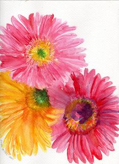 Original Watercolor Painting  of Colorful by SharonFosterArt, $40.00