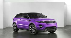 Purple Range Rover