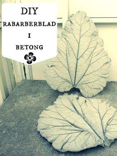ALKEMISTEN DIY - DIY - Rabarberblad i betong