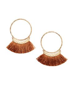 Earrings with Fringe | Camel | Ladies | H&M US