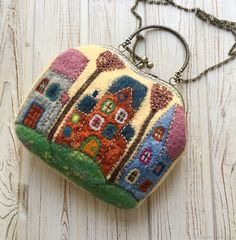 """Felted Bag """"Magic city"""" – shop online on Livemaster with shipping - GAUSJCOM   Kostroma"""