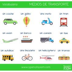 Aprende el nombre de algunos medios de transporte en #español con #SpanishZoom 😊 --- Learn the name of some means of transport in #Spanish with SpanishZoom 🚃🚞🚁✈️⛵️🚘🛵🚲 #vocabulario #transporte #vocabulary #meansoftransport #nivelA1 #levelA1 #spanishlessons #spanishclasses #spanishonline #zoom #languages #learnspanish #aprenderespañol #learnspanishwithspanishzoom