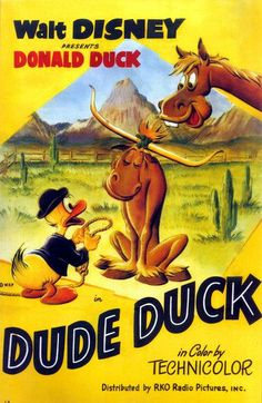 Dude Duck (1951) | http://www.getgrandmovies.top/movies/11084-dude-duck | Donald is vacationing at a dude ranch. After all the beautiful women pick the best horses, Donald ends up with the sad sack Rover Boy. But Rover Boy wants nothing to do with Donald.