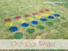DIY Outdoor Twister.  Perfect for a July 4th BBQ!