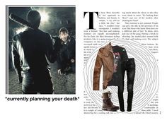 """*currently planning your death* // Justine Dixon X Negan"" by j-j-fandoms ❤ liked on Polyvore featuring Balmain, Topshop and Lands' End"