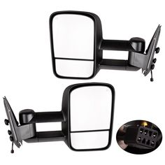 Power Heated Manual Telescoping Folding Tow Mirrors YITAMOTOR Towing Mirrors Compatible for Chevy GMC 2000 Chevy Tahoe GMC Yukon for 1999-2002 Chevy Silverado GMC Sierra 1500 2500 3500