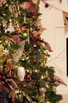 teale, copper and green decor | copper and green christmas tree | Christmas Decor | Pinterest