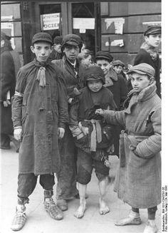 Warsaw ghetto in Poland, 1941.
