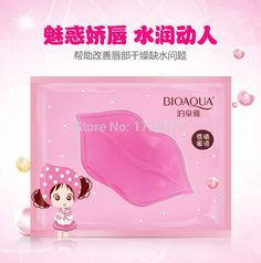 2015 Women Lips Care Crystal Collagen Lip Mask Pads Moisture Essence Anti Ageing Wrinkle Patch Pad Gel