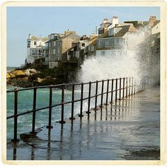 St Ives, Cornwall - we were here in June 1995 while staying at Landmark Trust property at Lower Porthmeor. St Ives Cornwall, Devon And Cornwall, Cornwall England, Seaside Towns, Seaside Uk, Rock Pools, England And Scotland, To Infinity And Beyond, English Countryside