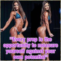 Every prep is the opportunity to measure yourself against your own potential Here is my competition ready to beat her Thank you for capturing this pic from Junior Nationals! Bikini Competition Workout Plan, Bikini Competition Suits, Fitness Competition, Bikini Workout, Fit Girl Motivation, Fitness Motivation, Bodybuilding Memes, Female Bodybuilding, Detox Cleanse For Weight Loss